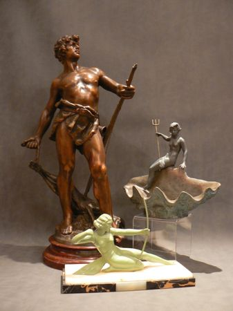 REGULE_ZINC_ALLIAGE_ART_DECO_ART_NOUVEAU_BRONZE_SCULPTURE