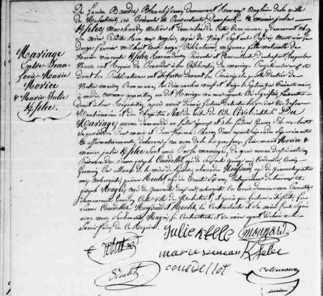 1838 mariage à Malestroit de Marie Julie Kerfelec_2
