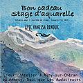 Bon cadeau : stage d'aquarelle en haute-savoie