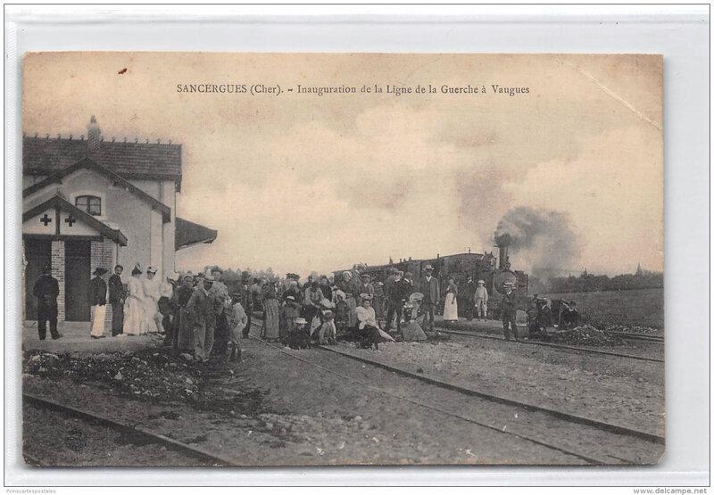 sancergues-la-gare-inauguration-le tramway-ligne-de-la-guerche-argent