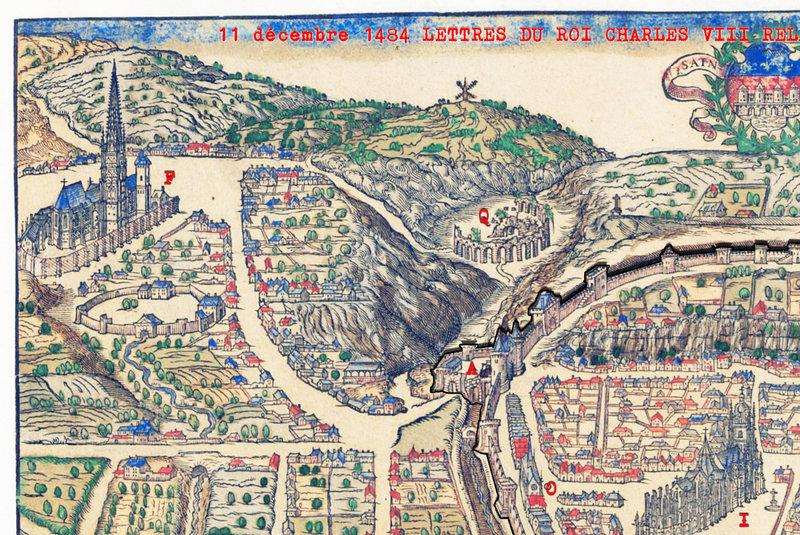 11 décembre 1484 LETTRES DU ROI CHARLES VIII RELATIVES AUX FORTIFICATIONS DES PORTES DE SAINTES a