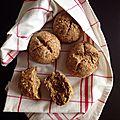 Petits pains complets aux flocons d