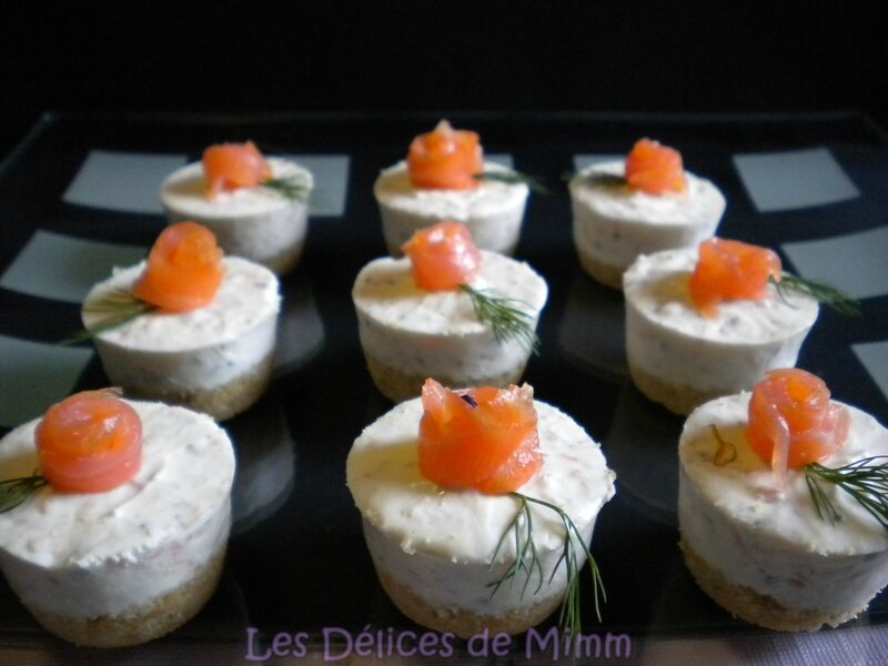 Mini cheesecakes au saumon fumé 2