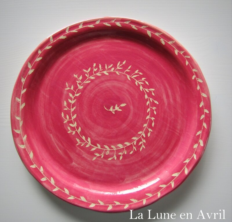 assiette rose pop