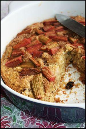 gâteau rhubarbe coco raisins3 (vegan)