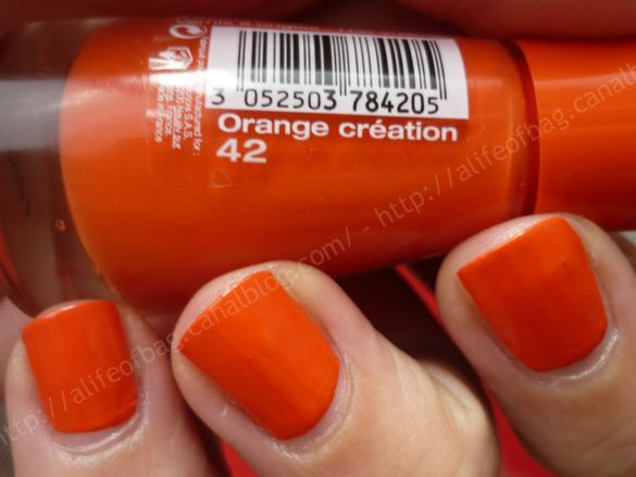 flacon bourjois orange creation 01