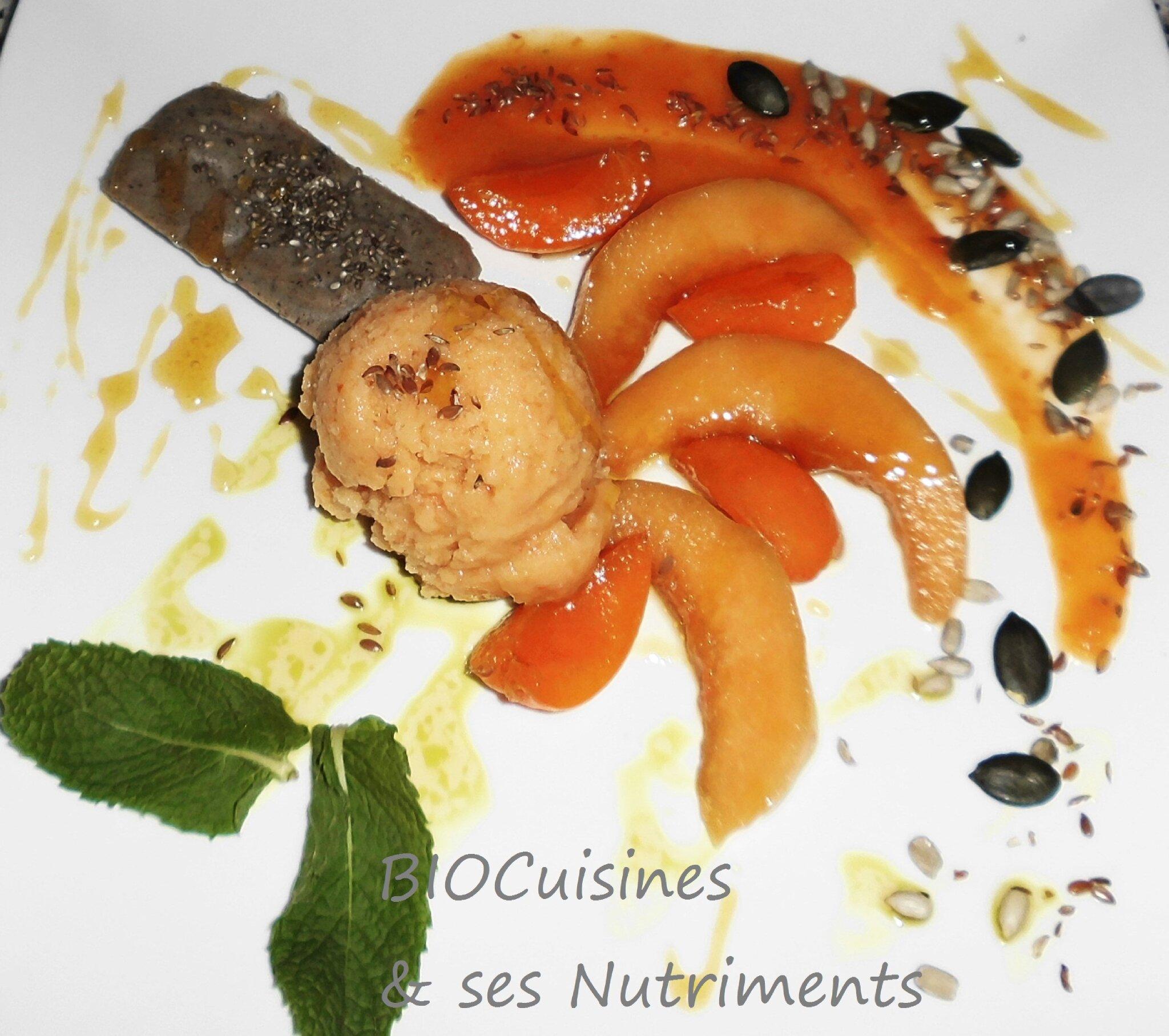 sorbet melon abricot