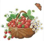 Embroidery-Package-Hot-Sell-Best-Quality-Cross-Stitch-Kits-Strawberry-Fruit-Basket-Butterfly-Free-Shipping