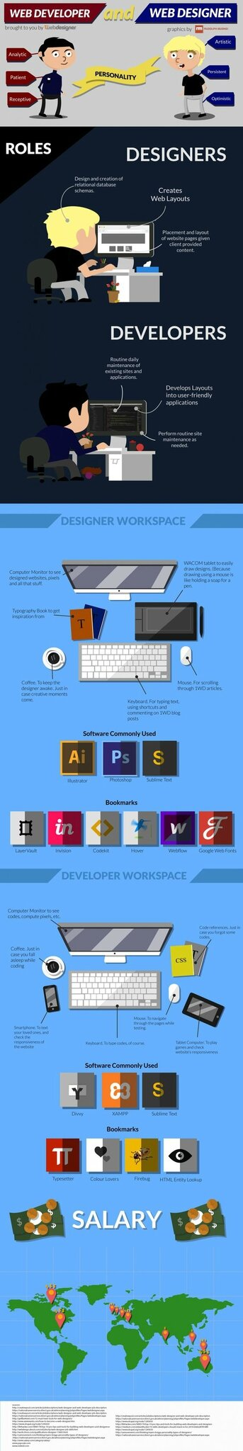 web developpers vs web designer