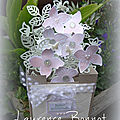 Carte 3d façon composition florale