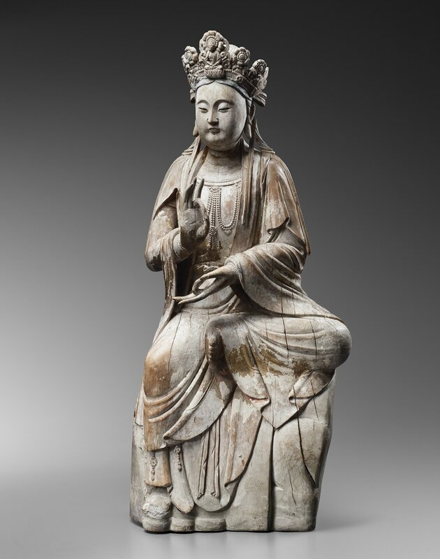Large wood sculpture of Guanyin