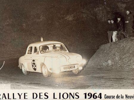 1964 - XIIIe Rallye d'Hiver des Lions R 1093 N° 52 GC