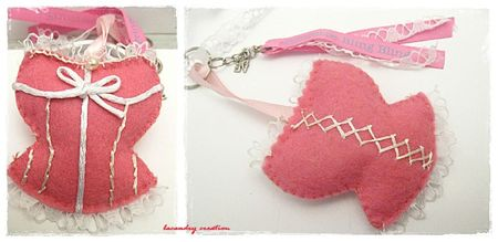 porte clef rose so valentine 3