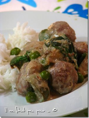 boulettes boeuf curry panang
