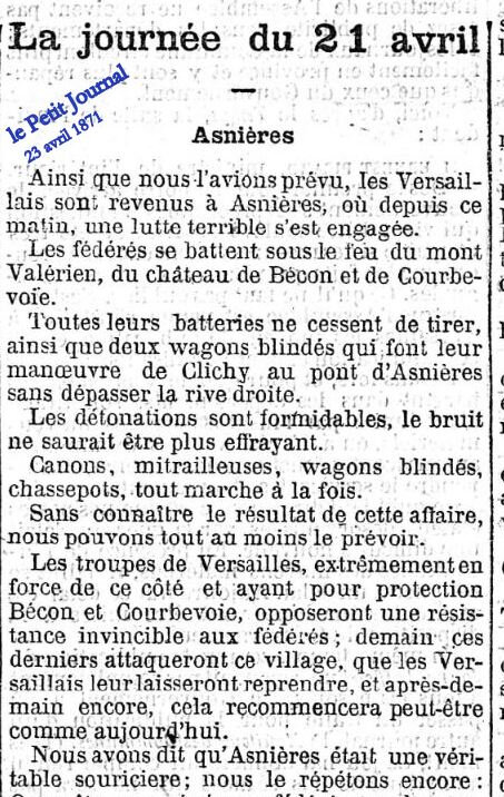 23 avril P Journal bombardements Asnieres