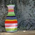 Vase crochet