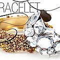 Diy do it yourself : bracelet avec perles de rocailles et perles transparentes géométriques