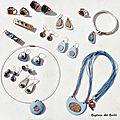 Collection été 2015 - bronze et bleu de pastel