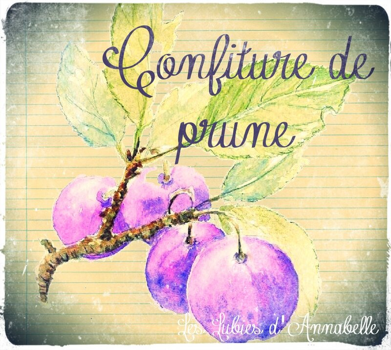 étiquette confiture prune