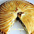 Galette pistache-framboise