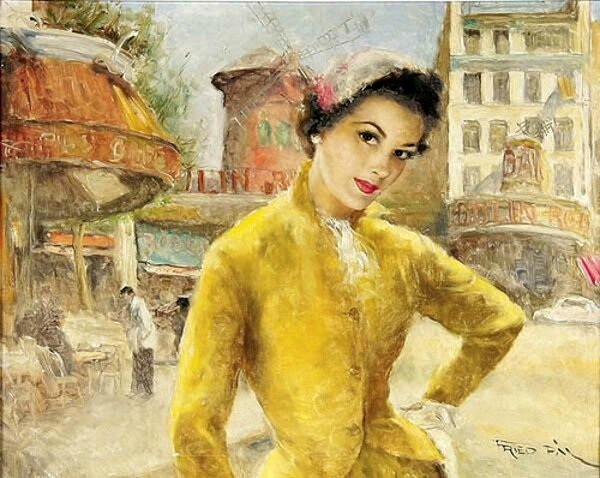 Fried pal carmen-in-yellow-dress-near-the-moulin-rouge