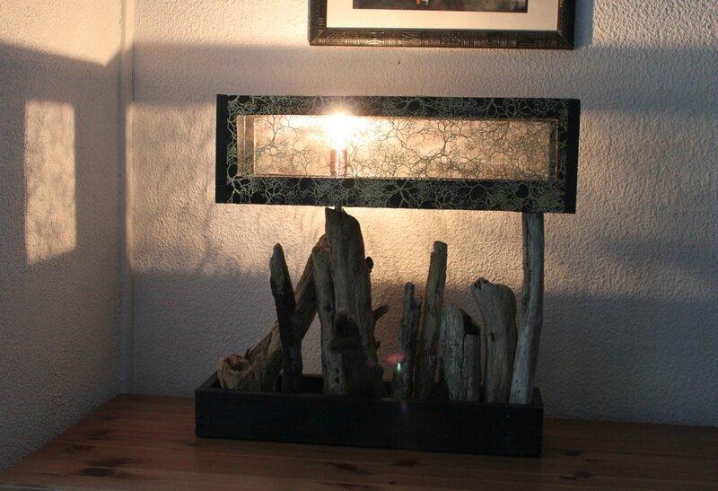 Lampe Bois flotté - collection L'Auberlac'h 004