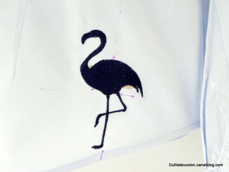 silhouette flamant