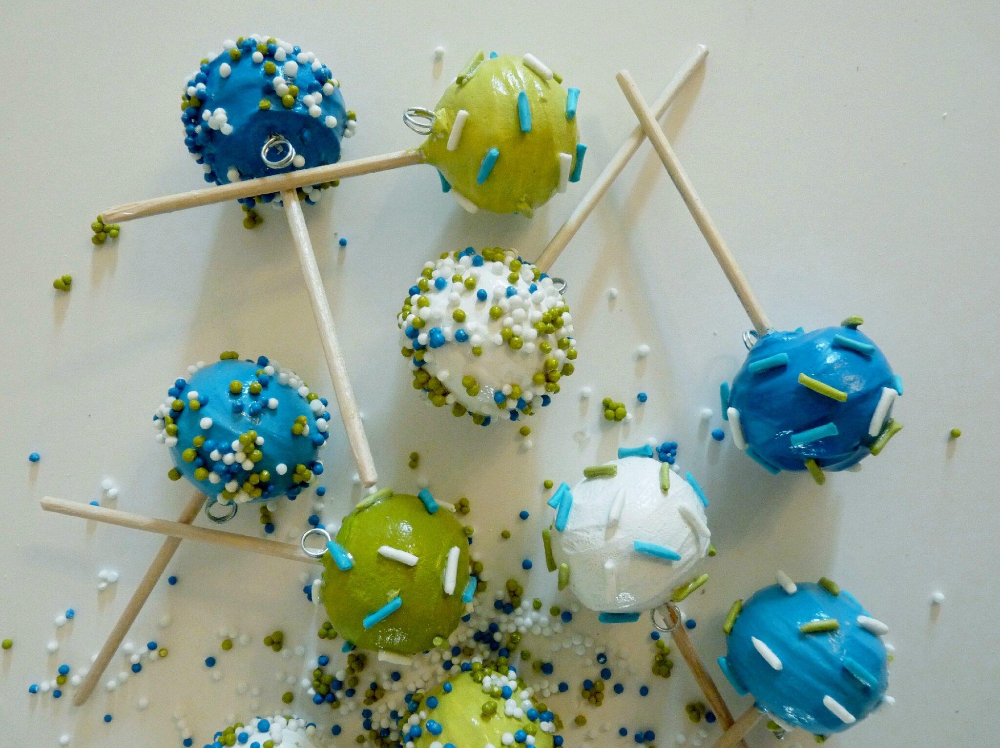 Pop cakes aux couleurs d'un mariage