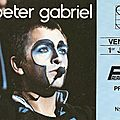Peter gabriel - vendredi 1er juillet 1983 - palais des sports (paris)