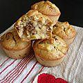 Muffins aux pommes raisins secs & flocons d'avoine