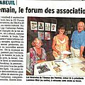 ARTICLE DAUPHINE 03SEP2015 FORUM ASSOC