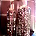 Petite décoration de bouteilles en verre