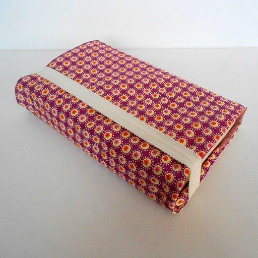 Protège livresfleurettes orange1