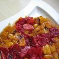Du soleil dans l'assiette avec une tarte tatin aux poivrons
