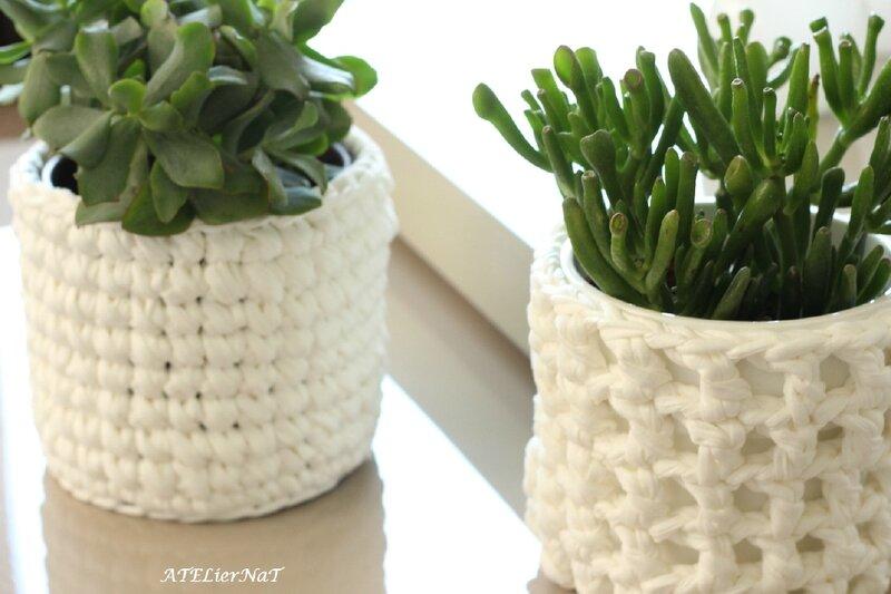 Cache-pot crochet blanc_1