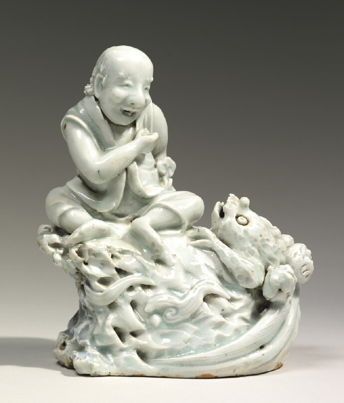 A 'QIngbai' group of Liu Hai and his toad, Yuan-early Ming dynasty