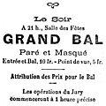 Fêtes de mi-carême 1922 à belfort, le bal paré et masqué