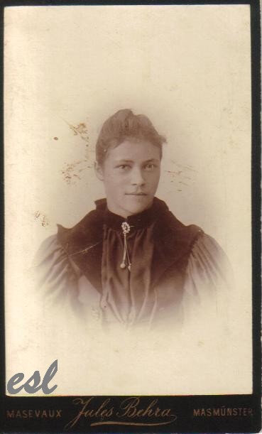 Fellmann Virginie épouse Lerch Alphonse