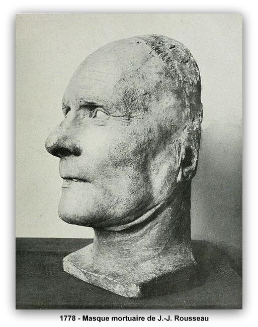 1778 masque mortuaire de Rousseau z