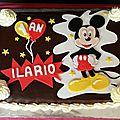 grand gâteau Mickey