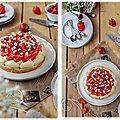 Dacquoise pistache et fraise