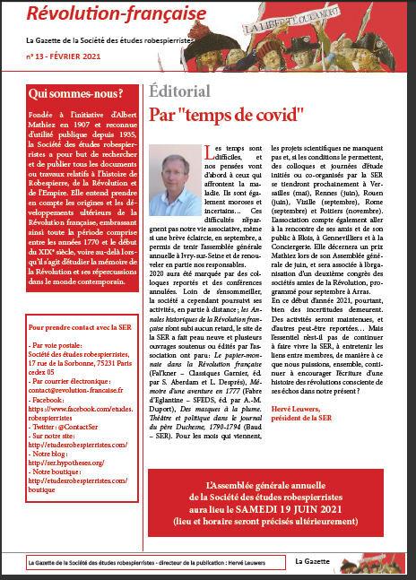 Gazette de la SER : 13° livraison.