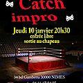 Le retour du catch-impro en 2013, c'etait le jeudi 10 janvier au tr3nte-qu4tre!