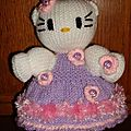 Poupee hello kitty au tricot( pas de tuto creation perso)