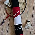 Housse de volants de badminton rose et noir assortie au sac Babolat natacha