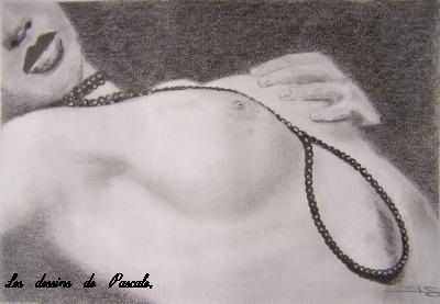 112 Femme au Collier de Perles 21X30 - DISPONIBLE