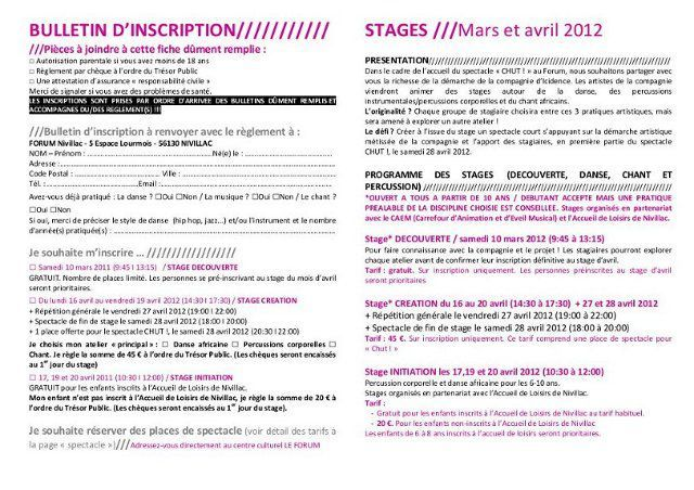 stage Icidence avril2