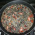 Riz noir aux encornets (arroz negro)