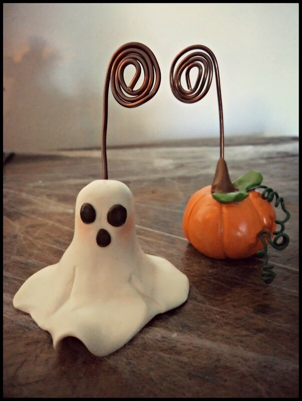 porte photo Halloween fimo 2