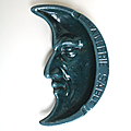 Objet collection ... cendrier demi-lune * emaillerie sablé - sarthe